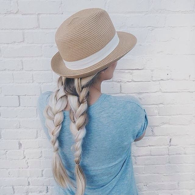 french plait bunches tutorial