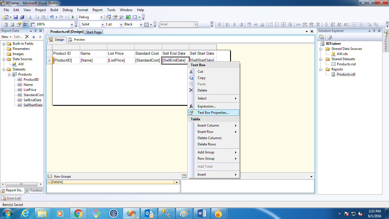 ssrs tutorial step by step