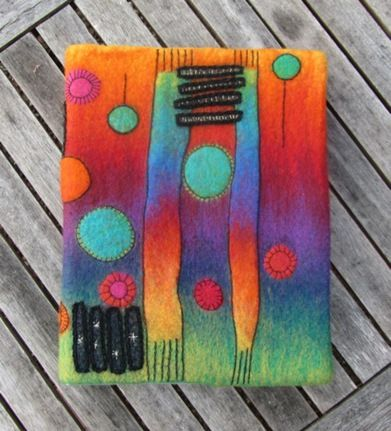 needle felted wall hanging tutorial