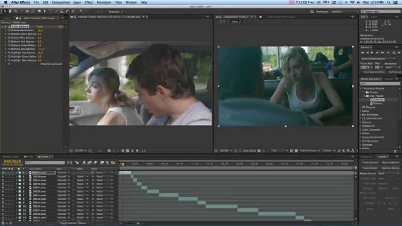 color grading tutorial after effects