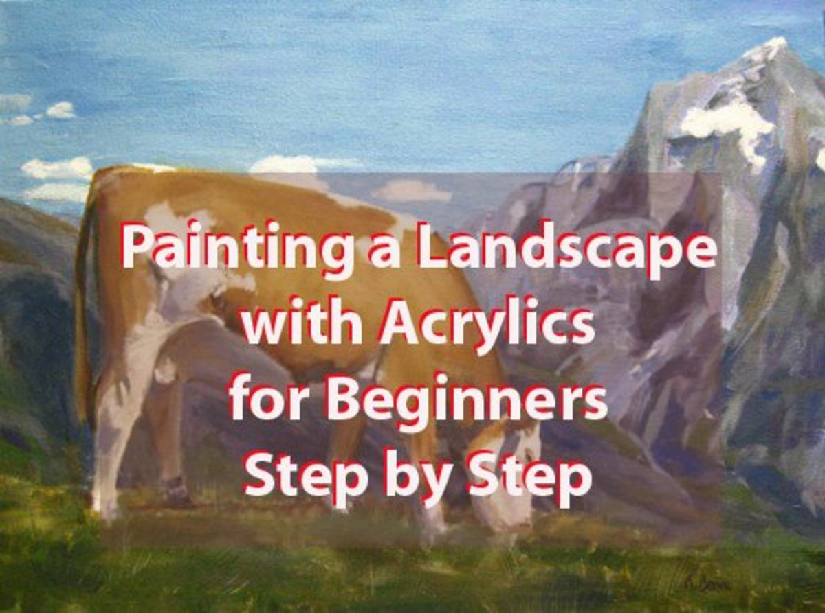 acrylic painting tutorial landscapes