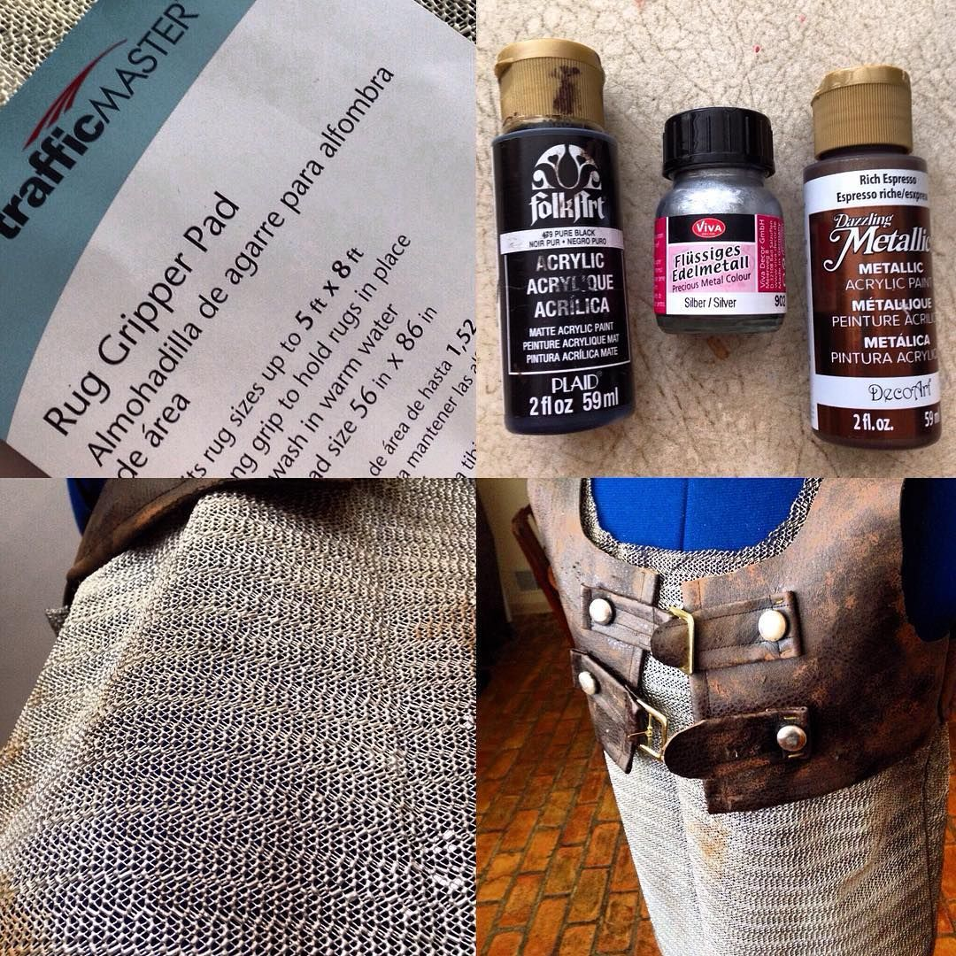 faux leather armor tutorial