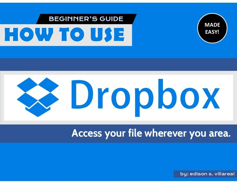 how to use dropbox tutorial